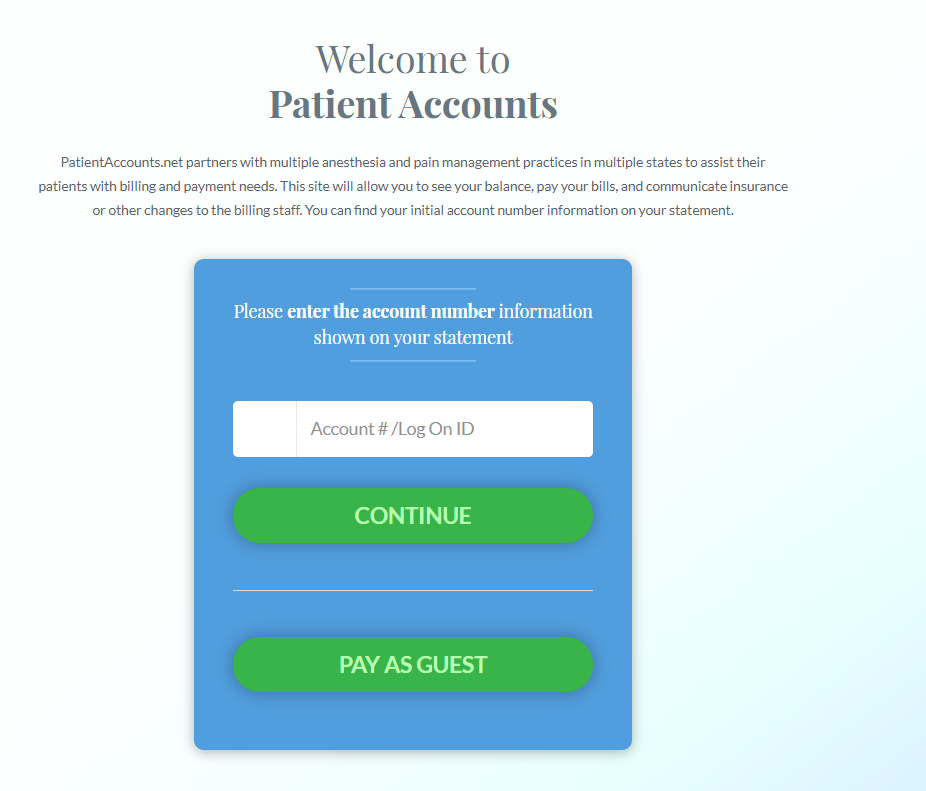 Patients Account